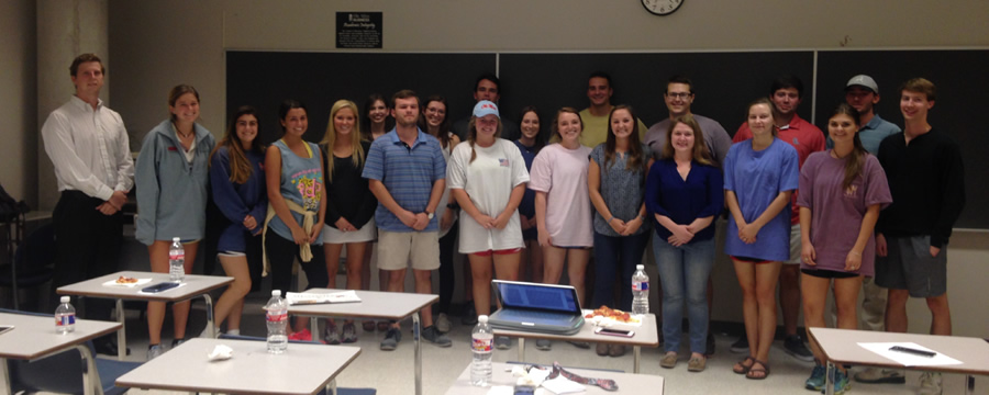 First meeting of the newly reactived Mu Chapter of Gamma Iota Sigma was held on October 7, 2015